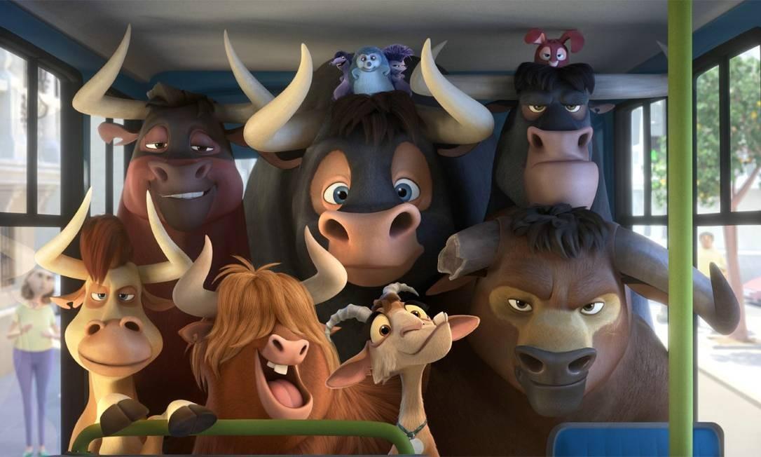 'O touro Ferdinando'. No filme, Ferdinando é um touro com um grande coração, mas ao ser confundido com uma fera perigosa, é capturado e levado de seu lar. Para voltar para sua família, ele precisa enfrentar uma grande aventura. Em cartaz no circuito. Foto: Divulgação