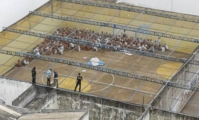 Rebelião é contida na Casa de Prisão Provisória de Palmas, no Tocantins, em fevereiro de 2017 Foto: Divulgação/Polícia Civil do Tocantins