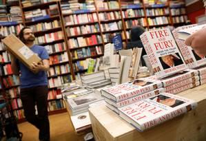 Livraria em Nova York recebe cópias de 'Fire and fury' Foto: SHANNON STAPLETON / REUTERS