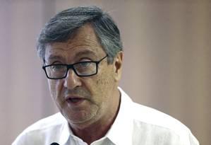 O ministro da Justiça, Torquato Jardim, durante entrevista coletiva Foto: Jorge William/Agência O Globo/23-12-2017