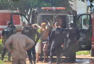 No início do ano, Complexo Prisional de Aparecida, na Região Metropolitânia deGoiás, registrou umarebeliãoque deixou nove mortos Foto: CLAUDIO REIS / AFP