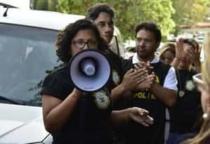 Policiais civis participam de assembleia do movimento grevista no Rio Grande do Norte Foto: Vitorino Junior/ Photo Press / Agência O Globo