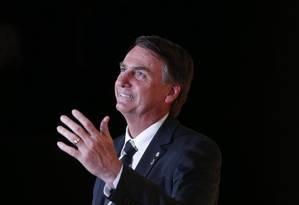 O deputado federal Jair Bolsonaro (PSC-RJ), pré-candidato à Presidência Foto: Marcos Alves / Agência O Globo 27/11/2017