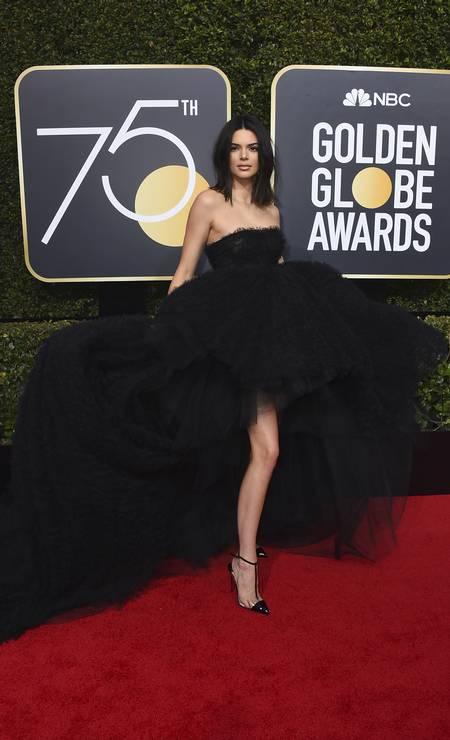 A modelo Kendall Jenner Foto: Jordan Strauss / Jordan Strauss/Invision/AP