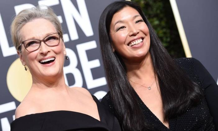 Meryl Streep e Ai-jen Poo Foto: VALERIE MACON / AFP