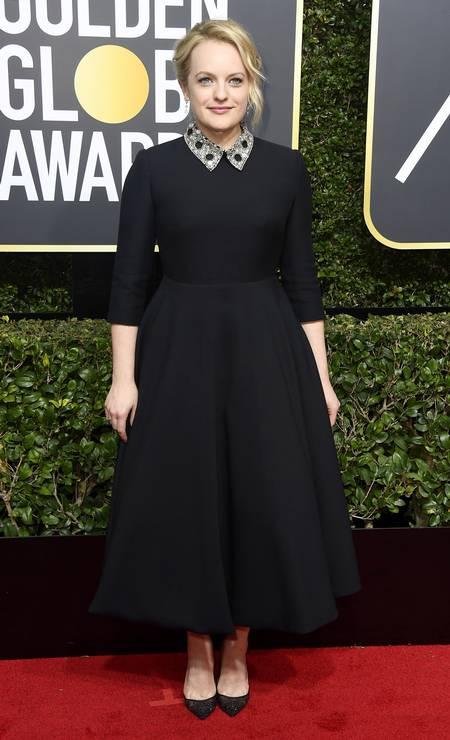 A vencedora do Globo de Ouro de melhor atriz em série dramática, Elizabeth Moss Foto: Frazer Harrison / AFP