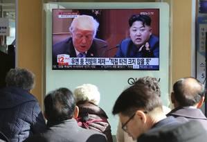 Donald Trump e Kim Jong-un travam batalha retórica desde 2017 Foto: Ahn Young-joon / AP