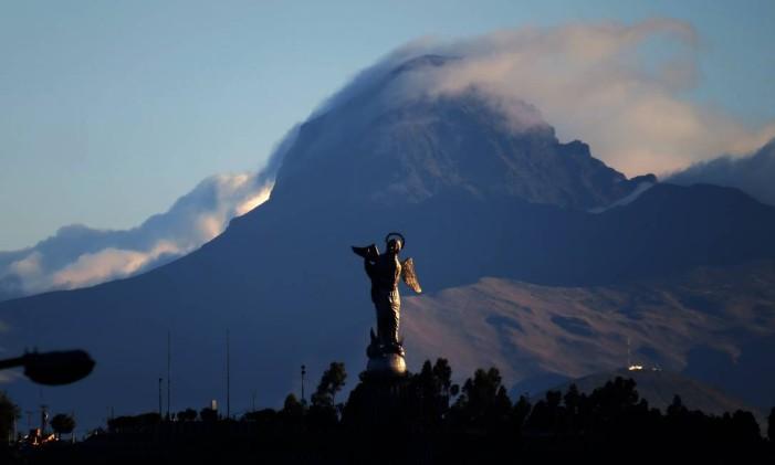 Vista de la Virgen del Panecillo, desde o Parque de la Mujer, em Quito, Equador Foto: Hernán Alfonso Díaz Andrade / Quito Turismo/Divulgação