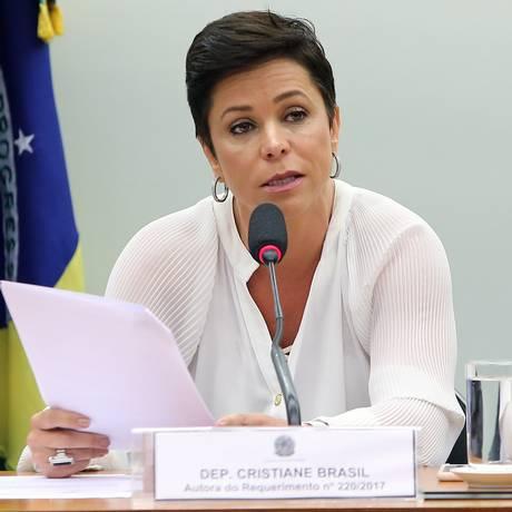 A deputada federal Cristiane Brasil (PTB-RJ) durante audiência pública na Câmara Foto: Gilmar Felix/Câmara dos Deputados/30-08-2017