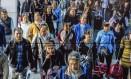 Circuito interno de TV utiliza o sistema de reconhecimento facial em Pequim: sobram temores Foto: Gilles Sabrié / The Washington Post