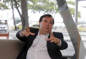 O presidente da Câmara, Rodrigo Maia Foto: Domingos Peixoto / Agência O Globo