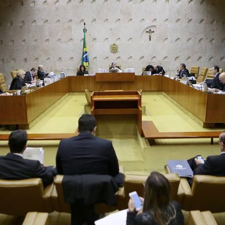 Sessão plenária no STF Foto: Jorge William / Agência O Globo