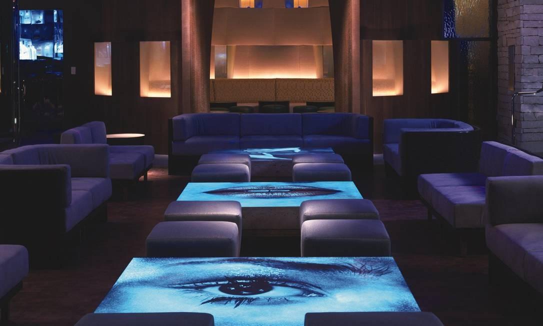 Tabú Lounge, no MGM Grand, em Las Vegas, um dos hotéis mais famosos da cidade dos cassinos Foto: Divulgação