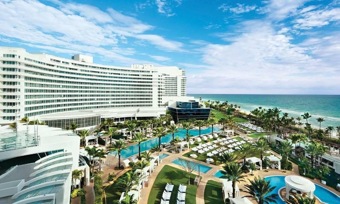 O quinto na lista dos mais mais no Instagram em 2017: o Hotel Fontainebleau, Miami Beach. Foto: Reprodução: portuguese.fontainebleau.com/
