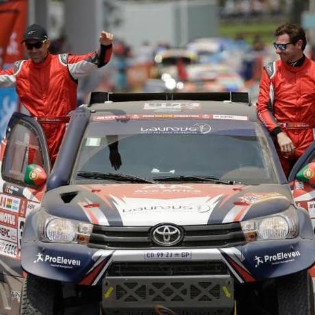 Andre Villas-Boas e o co-piloto Ruben Faria estavam no 41º lugar Foto: AP