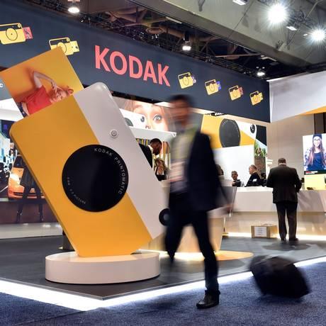 Estande da Kodak na CES 2018, em Las Vegas Foto: David Becker / AFP