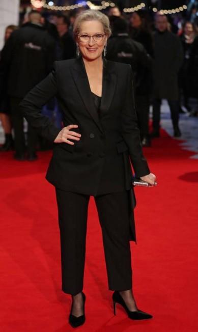 """No filme, grande concorrente ao Oscar de 2018, Meryl Streep interpreta Katharine Graham, publisher do """"Washington Post"""" durante os anos 60 e 70 DANIEL LEAL-OLIVAS / AFP"""
