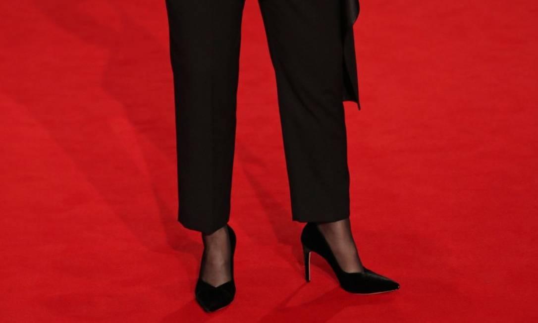 Os sapatos usados por Meryl Streep eram criação do brasileiro Alexandre Birman DANIEL LEAL-OLIVAS / AFP