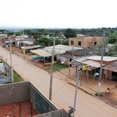 Favela de Sol Nascente, em Ceilândia, no Distrito Federal Foto: Sérgio Marques/Agência O Globo/23-12-2011
