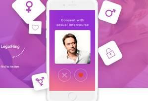 Aplicativo propõe assegurar regras antes de relações sexuais Foto: Reprodução