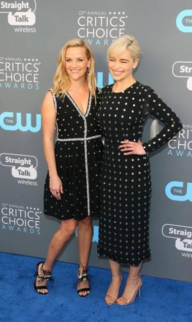 Reese Witherspoon e Emilia Clarke JEAN-BAPTISTE LACROIX / AFP