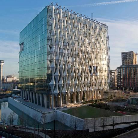 Nova embaixada dos EUA em Londres Foto: JUSTIN TALLIS / AFP