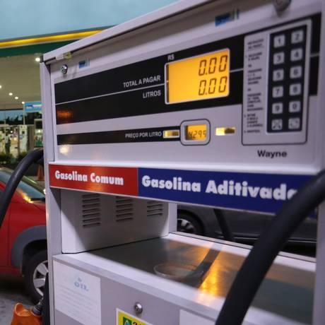 Posto de combustível na Praça da Bandeira, no Rio. Foto: Roberto Moreyra / Agência O Globo