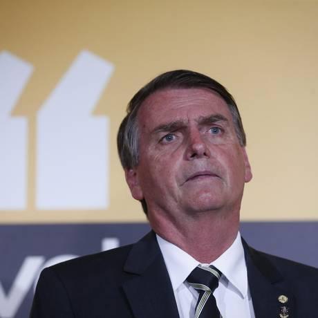 O deputado federal Jair Bolsonaro, pré-candidato do PSL Foto: Marcos Alves / Agência O Globo
