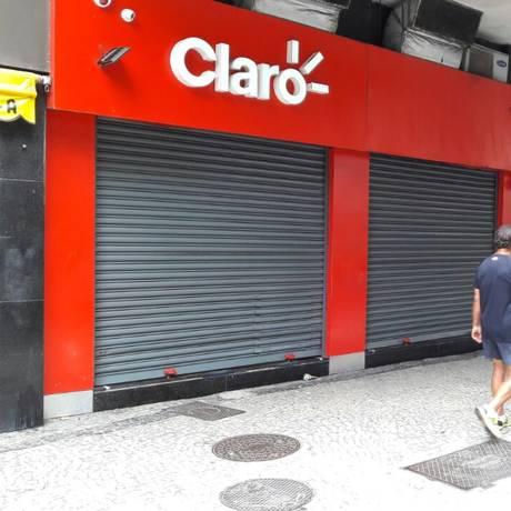 Tiroteio foi durante tentativa de assalto à loja da Claro Foto: Domigos Peixoto