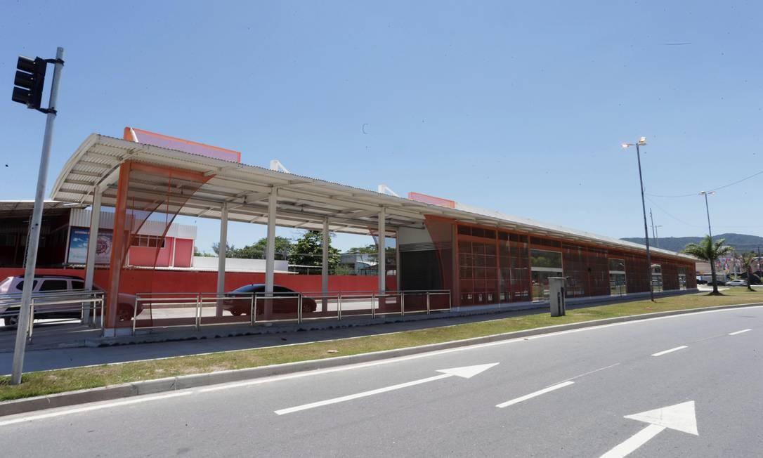 Estação de ônibus da Transoceânica que ainda não está em funcionamento Foto: / Márcio Alves