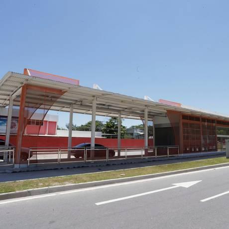 Estação de ônibus da Transoceânica que ainda não está em funcionamento Foto: Márcio Alves
