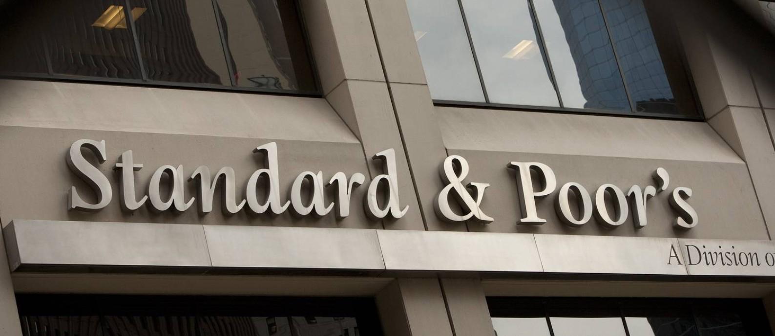 Fachada da Standard & Poor's em Nova York Foto: Scott Eells / Bloomberg