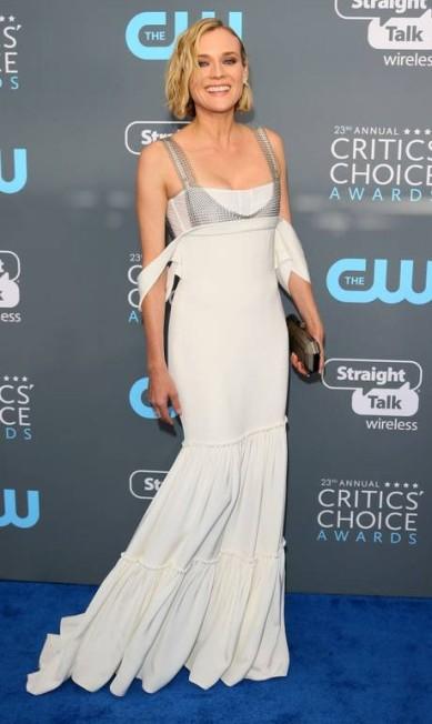Diane Kruger, uma das estrelas mais bem-vestidas de Hollywood em qualquer evento, não decepcionou, claro. No Critics Choice Awards, ela usou um Vera Wang JEAN-BAPTISTE LACROIX / AFP