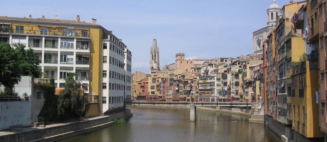 Girona, na Catalunha: região, que tem Barcelona como destaque, é a mais visitada da Espanha Foto: Priscila Guilayn / Agência O Globo