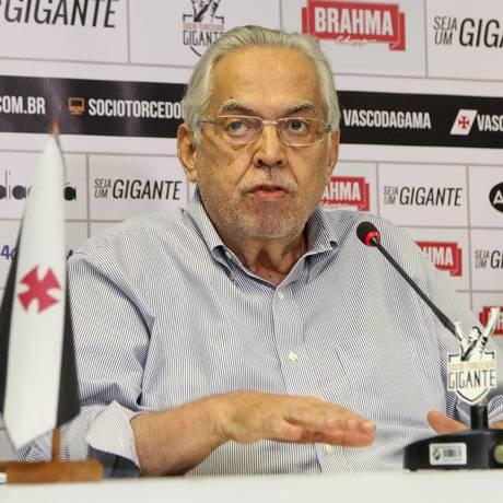 Eurico Miranda, durante coletiva Foto: Divulgação