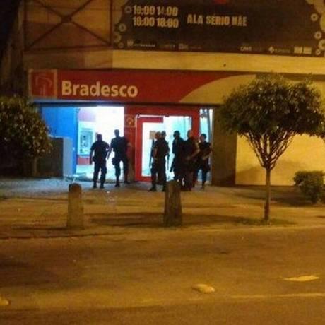 Agência bancária que foi alvo de bandidos em Guadalupe Foto: Reprodução