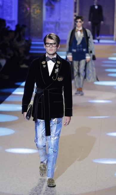 O desfile da Dolce & Gabbana aconteceu na semana de moda masculina de Milão Antonio Calanni / AP