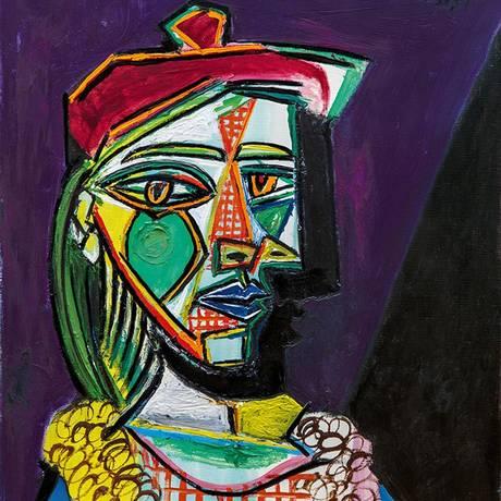 Quadro 'Femme au béret et à la robe quadrillée (Marie-Thérèse Walter)', de Pablo Picasso Foto: Reprodução