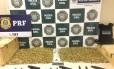 Polícia Civil e PRF apreendem 10 mil munições de pistola