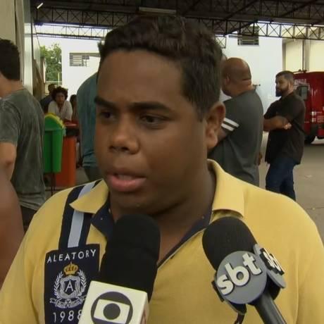 Wallissom Silva de Araújo, marido de Michelle Ramos da Silva Nascimento Araújo, que estava grávia e foi baleada na cabeça Foto: Reprodução/TV Globo
