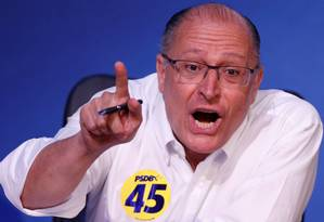 O pré-candidato à Presidência Geraldo Alckmin, que planeja uma coligação com quatro ou cinco partidos Foto: Adriano Machado / Reuters