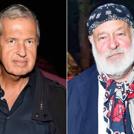 Mario Testino e Bruce Weber: ícones de moda são acusados Foto: Montagem
