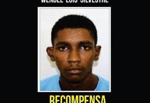Wendel Luis Silvestre é um dos suspeitos de matar o delegado Foto: Divulgação