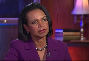 A ex-secretária de Estado americana Condoleezza Rice durante entrevista para a CNN Foto: Reprodução / © CNN