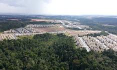 Vista aérea dos conjuntos habitacionais Viver Melhor 1 e 2, em Manaus Foto: Divulgação/ Defensoria Pública do Amazonas