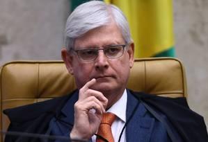 O ex-procurador-geral da República Rodrigo Janot durante sessão do Supremo Tribunal Federal Foto: Jorge William/Agência O Globo/14-09-2017