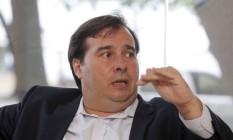 O presidente da Câmara, Rodrigo Maia, durante entrevista exclusiva para O GLOBO 08/01/2018 Foto: Agência O Globo
