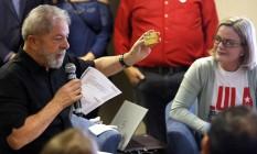O ex-presidente Lula e a presidente do PT, Gleisi Hoffman Foto: Edilson Dantas / Agência O Globo 21/09/2017