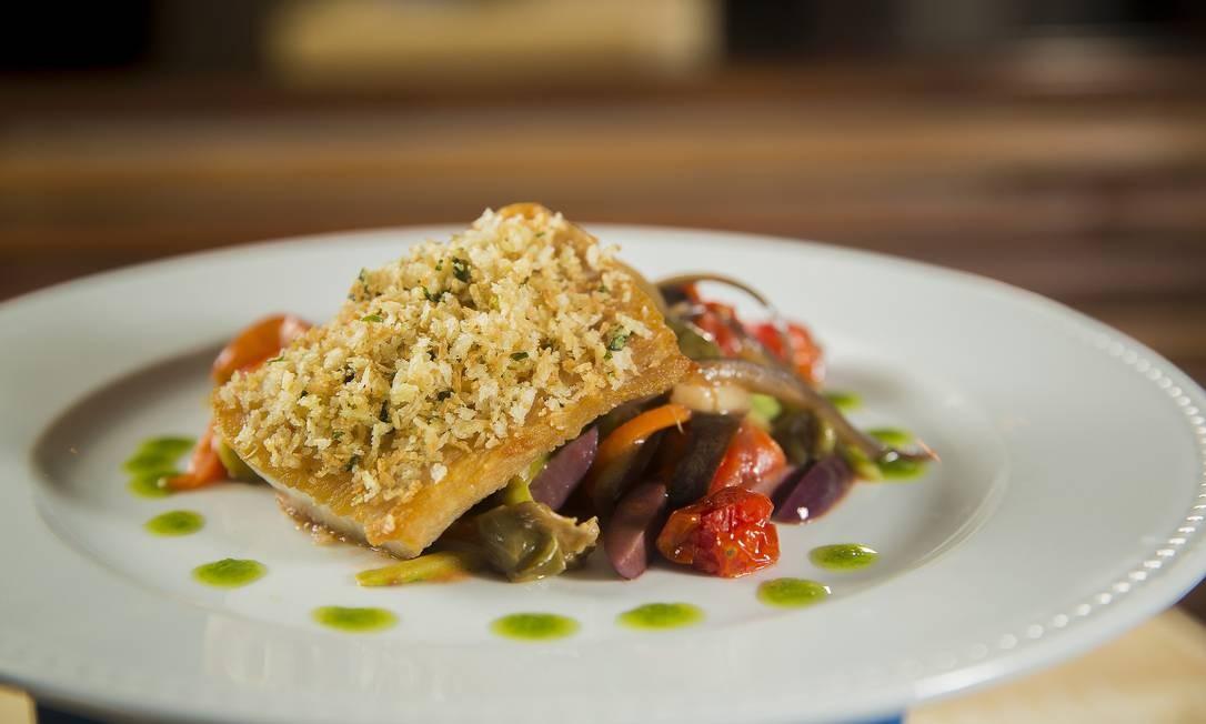 Bottega Del Vino. De principal, peixe do dia grelhado com legumes ao forno. Menu servido no jantar (R$ 88). Rua Dias Ferreira 78, Leblon (2512-6526). Foto: Divulgação/Beto Roma