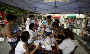 Posto de vacinação da prefeitura de Valença, montado na Rua dos Mineiros, no centro da cidade Foto: Márcia Foletto / Agência O Globo